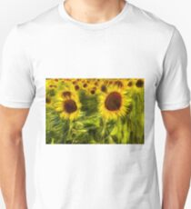 Sunflowers Abstract Van Gogh T-Shirt