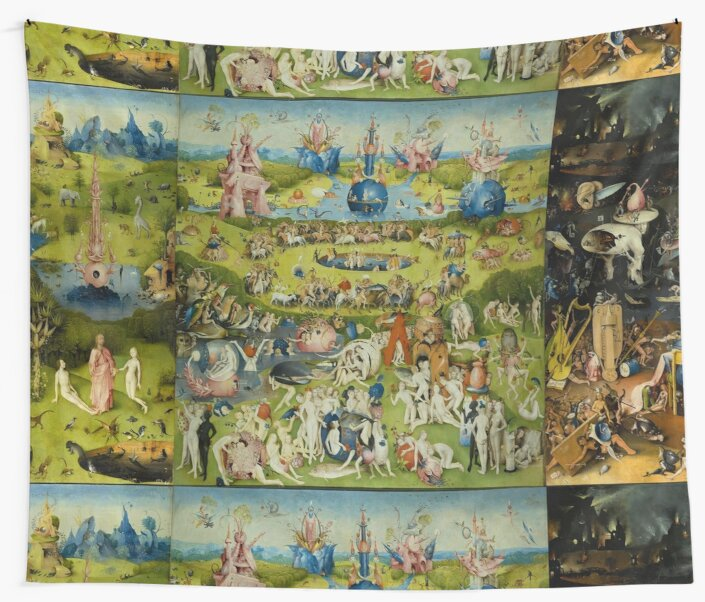 The Garden Of Earthly Delights By Hieronymus Bosch By Vintage Designs