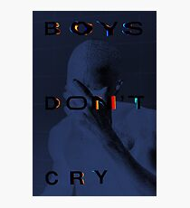 Frank Don't Cry (Blue) Photographic Print