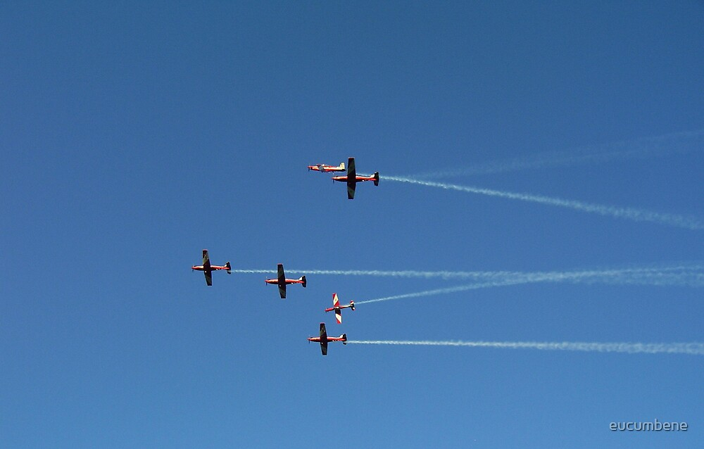 """Pre-formation"" - The Roulettes fly over Canberra. by eucumbene"