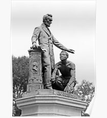 Abraham Lincoln Freeing A Slave At The Emancipation Memorial -- 6 Poster