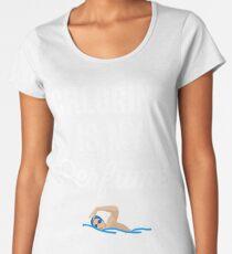 Chlorine is my perfume - Funny swimmer Women's Premium T-Shirt