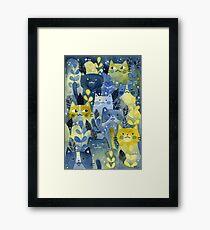 kitty forest Framed Print