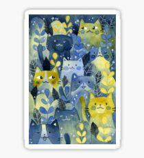 kitty forest Sticker
