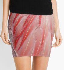 Schlafen Flamingo Coral Pink Wing Federn Textur Minirock