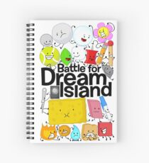 BFDI Poster White Spiral Notebook