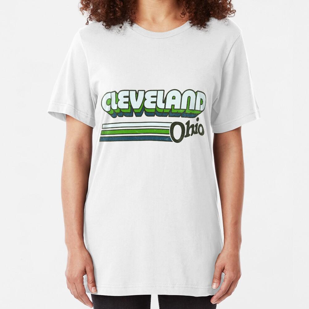 Cleveland, OH | City Stripes Slim Fit T-Shirt