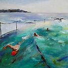 Early Swim, Bronte Beach, Sydney by Barbara Gray