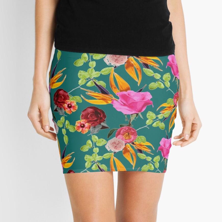 Chaman Garden (verde) Minifalda