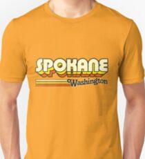 Spokane, WA | City Stripes Unisex T-Shirt