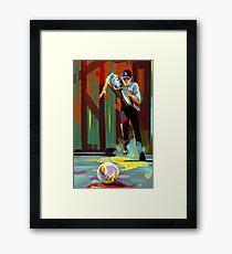 The Showdown Framed Print