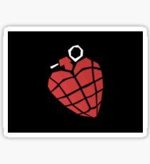 Green Day Heart Grenade Sticker