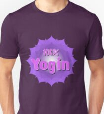 Yogin logo with violet mandala T-Shirt