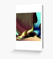 The Left Shoe Of Nike Greeting Card