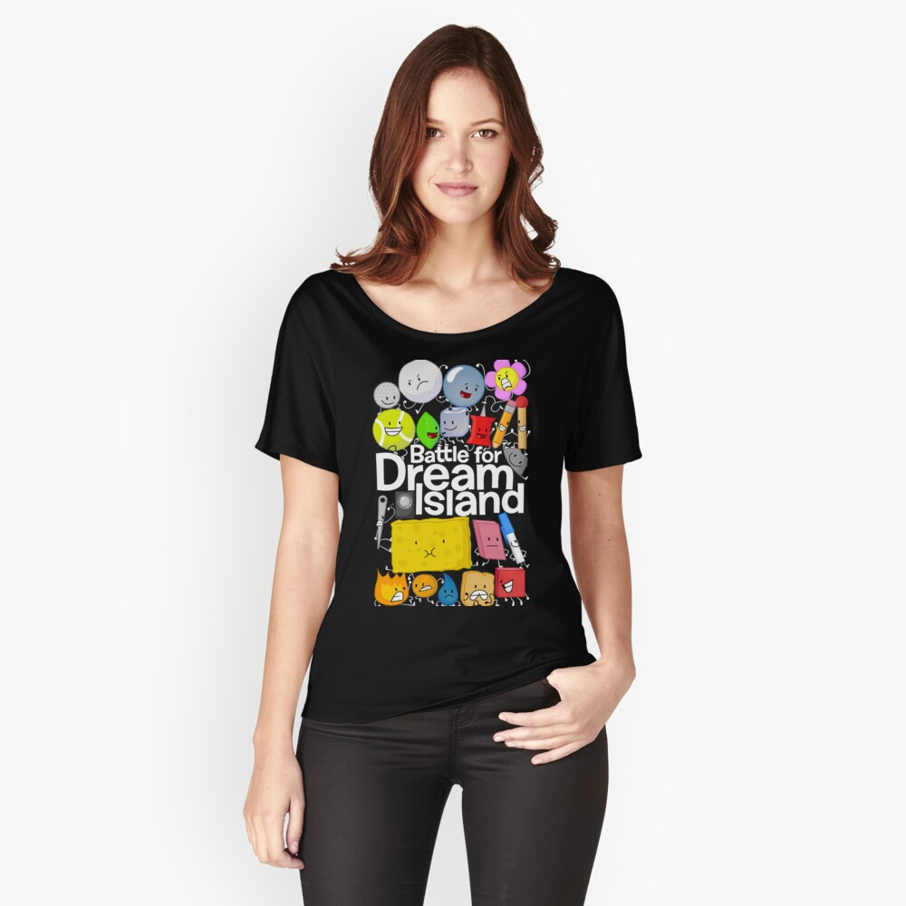 BFDI Poster Black Relaxed Fit T-Shirt