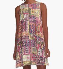 Crowded City A-Line Dress
