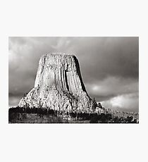 Devil's Tower Black and White Photographic Print