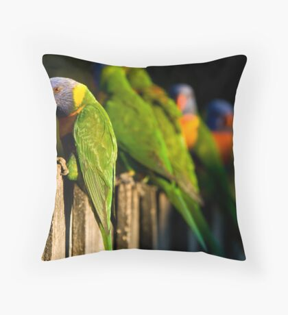 The food line Throw Pillow