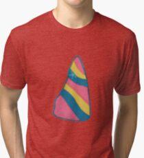 Unicorn Horn Bubble Bar Tri-blend T-Shirt