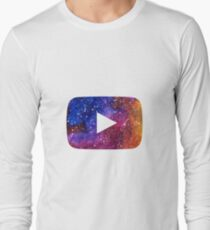 YouTube Play Button Space 2 Long Sleeve T-Shirt