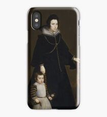 Doña Antonia de Ipeñarrieta y Galdós and Her Son Don Luis 1631 - 1632 Diego Velázquez iPhone Case/Skin
