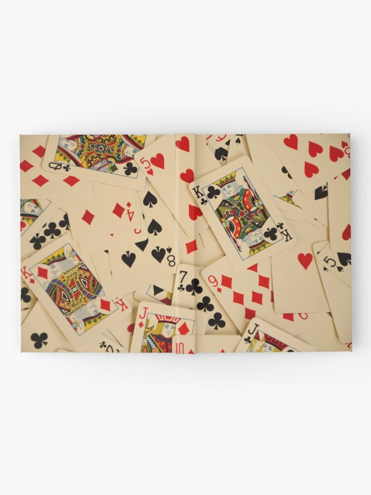 Alternate view of Scattered Pack of Playing Cards Hearts Clubs Diamonds Spades Pattern Hardcover Journal