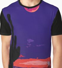 Saguaro National Park at sunset Graphic T-Shirt