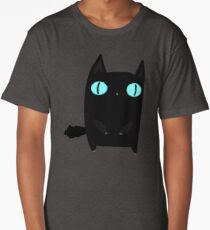 Fat Black Cat Long T-Shirt