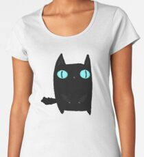 Fat Black Cat Women's Premium T-Shirt