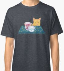 still life with cat and coffeecups Classic T-Shirt