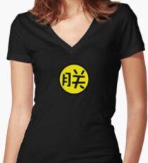 zheng Women's Fitted V-Neck T-Shirt
