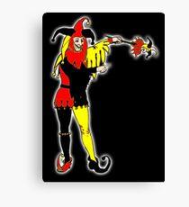 JOKER, Joke, Jokerman, Fool, cards, gamble, wild card, trump card, on BLACK Canvas Print