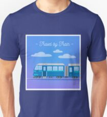 Travel Banner. Tourism Industry. Train Travel. Mode of Transportation.  Flat Style T-Shirt
