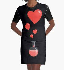 Flask of Hearts Graphic T-Shirt Dress