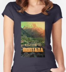 Welcome to Montana Women's Fitted Scoop T-Shirt