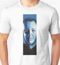Painting of man. Portrait in blue Unisex T-Shirt