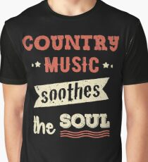 Country Music Soothes the Soul Legends Country Fans Guitar Graphic T-Shirt