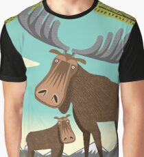 The Magnificent Moose Graphic T-Shirt