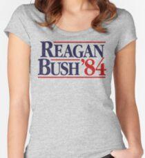 Reagan/Bush '84 Women's Fitted Scoop T-Shirt