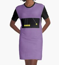 Hyper Kinetic Smiley Balls Graphic T-Shirt Dress