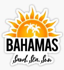 Pegatina Bahamas: arena, mar y sol