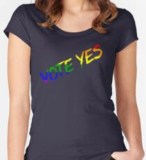 Vote Yes-Australia Marriage Equality Women's Fitted Scoop T-Shirt