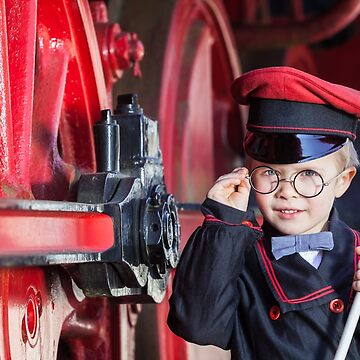 Smiling Train Conductor Boy by 75tiks
