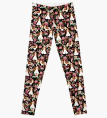 Blenheim cavalier king charles spaniel dog breed florals pattern gifts Leggings