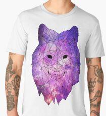 Geometric Galaxy Wolf Men's Premium T-Shirt