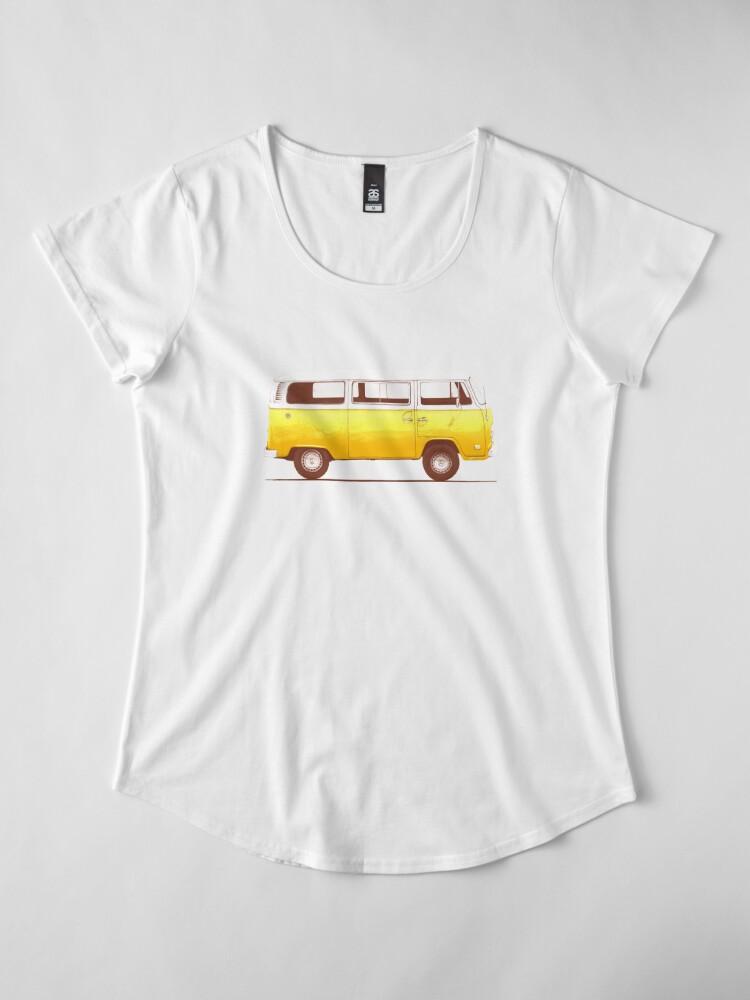 Alternate view of Yellow Van Premium Scoop T-Shirt