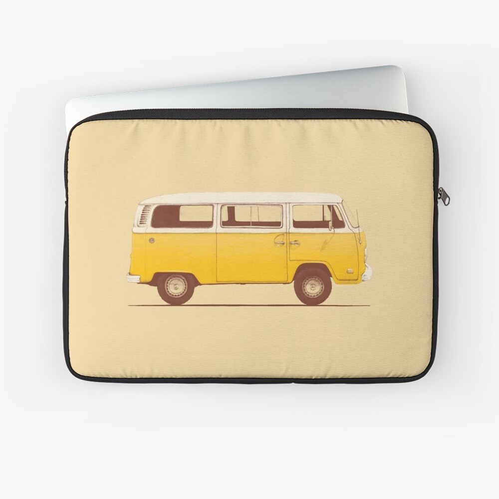 Yellow Van Laptop Sleeve Front