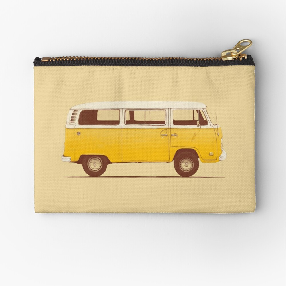 Yellow Van Zipper Pouch