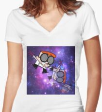 Dextor's Lab Experiment #420 Women's Fitted V-Neck T-Shirt