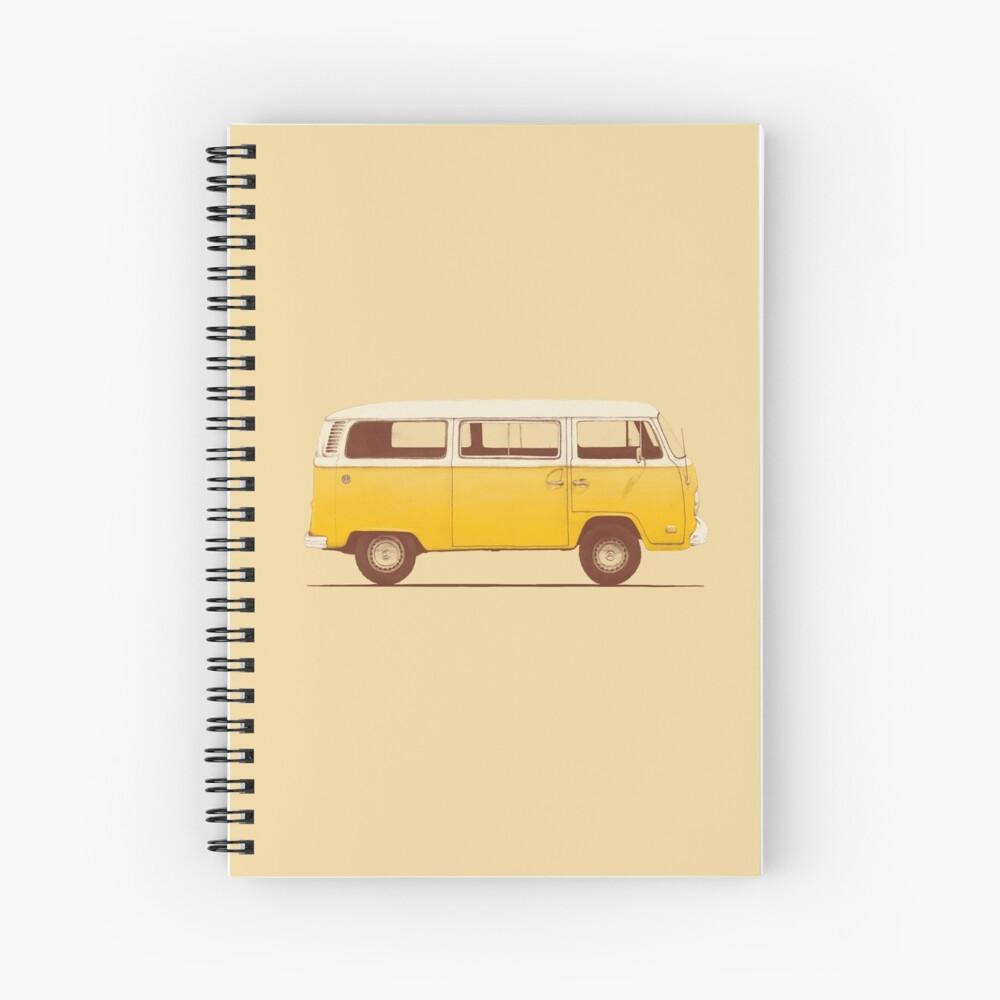 Yellow Van Spiral Notebook